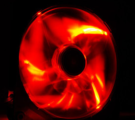 NZXT  RF-FZ140-R1 Airflow 140mm Red LED Case Fan