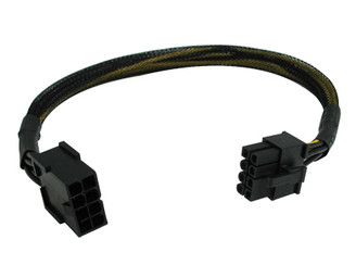 12inch 8 pin PCI Express Extension Cable Black Sleeved