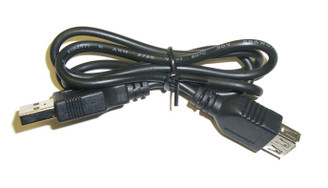 30inch USB Extension Cable, A (Male) to A (Female), Black