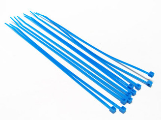 7inch (20cm) UV Blue Nylon Cable Zip Tie (10pcs)