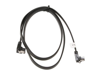 36inch SATA 3.0 6Gbs cable,right to right, Black w/ metal latch