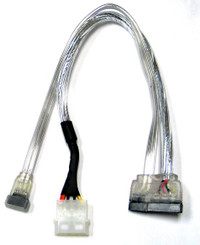 18inch SATA II data and Power combo Cable (OK105S)