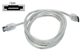 6FT Premium External eSATA SATA II Round Cable (I to I), Silver
