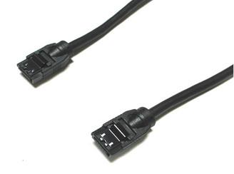 6inch SATA3.0 6Gb/s Round Cable,180 to 180 deg, w/ metal latch,Black