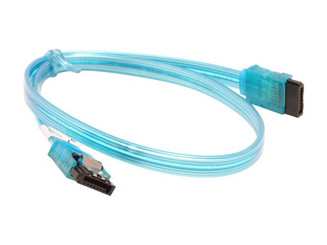18inch SATA3.0 6Gbs cable ,straight to straight, UV blue, metal latch