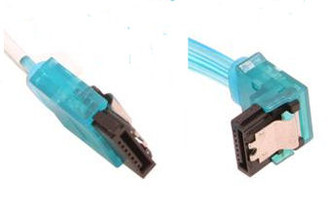10inch SATA3.0 6Gbs cable ,straight to right, UV blue, metal latch