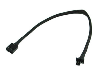 12inch 4PIN PWM FAN EXTENSION CABLE W/ BLACK SLEEVED