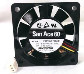San Ace 109P0612H701 60x15mm 4100 RPM 3PIN FAN
