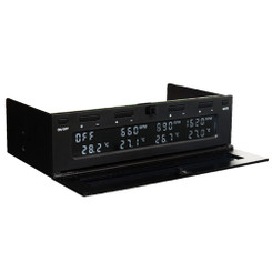 Scythe KM06-BK (Black) Kaze Master Flat  4Ch 5.25inch Bay Fan Controller