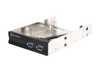 Silverstone FP36B 3.5inch Bay Dual 2.5in HDD  Mount w/ 2xUSB3.0 Ports