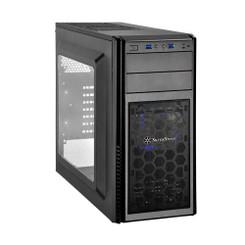 Silverstone SST-PS11B-W (Mesh front panel, steel body) ATX/MATX Black Case