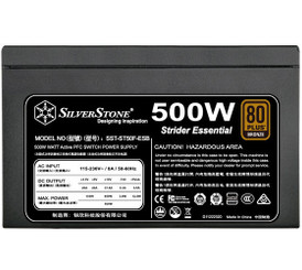 Silverstone SST-ST50F-ESB  500W 80 PLUS Bronze ATX Power Supply
