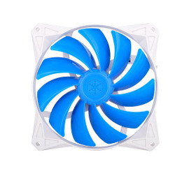 Silverstone SST-FQ122 120mm  x 120mm  x 25mm Blue Blade 4Pin PWM Fan, 4Pin PWM