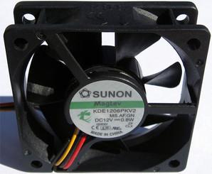 Sunon KDE1206PKV2 60x60x20mm MagLev Fan, 3Pin