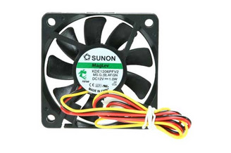 Sunon KDE1206PFV2 60x60x10mm MagLev Fan, 3Pin