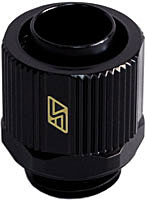 Swiftech 1-2x3-8-G1-4-CF-BK (Black) 3/8in x 1/2in Lok-Seal Compression Fitting