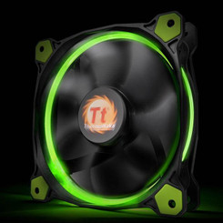 Thermaltake CL-F039-PL14GR-A Riing 14 High Static Pressure Green LED Radiator Fan