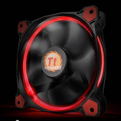 Thermaltake CL-F039-PL14RE-A Riing 14 High Static Pressure Red LED Radiator Fan