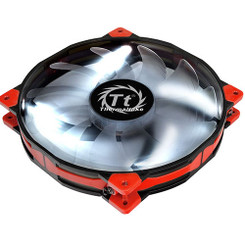 Thermaltake CL-F026-PL20WT-A Luna 20 LED White Anti-vibration 200mm Fan