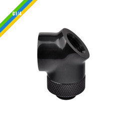 Thermaltake CL-W053-CU00BL-A Pacific G1/4 45 & 90 Degree Adapter - Black