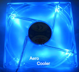 Top Motor 120mm x 120 mm x 25mm 4 Blue LED Crystal Clear Fan (4Pin)