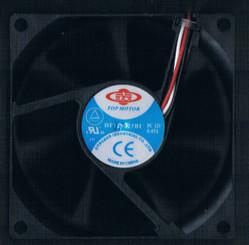 Top Motor DF128025BU-3/4G 80x80x25mm Ball Bearing Hi Speed Fan, 3Pin