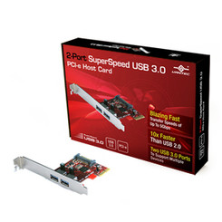 Vantec UGT-PC302 2-Port SuperSpeed USB 3.0 PCI-Express Host Card