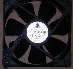 Delta WFB1212H-R00 120x25mm Hi-Speed Fan, 3pin