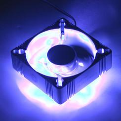 EverCool 4 Blue LED Fan Aluminum 92mm