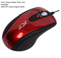A4Tech X-750F-2 3x Fire Laser Game Mouse (Red/Black)