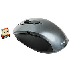 A4tech G7630-1 2.4GHz Wireless Optical Mouse w/ USB Receiver, Grey