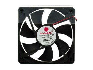 Coolmax 1225H12B 120x25mm Pwer Supply Replacement Fan, 2Pin