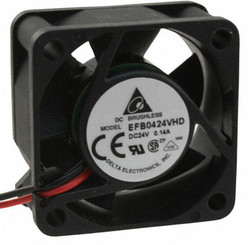 Delta EFB0424VHD-F00 40x20mm Ball Bearing 24V Fan, 3Pin