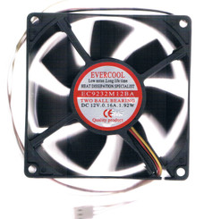 Evercool EC9232M12BA 92x92x32mm,Dual Ball Bearing Fan, 3Pin