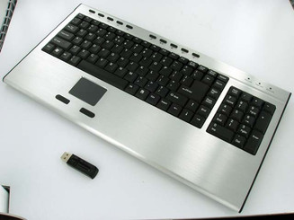 2.4GHz Wireless Aluminum Touchpad USB Keyboard  (Full Size)