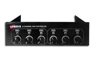 Logisys FP600BK 5.25inch  Bay 6 Channel PWM Fan Controller