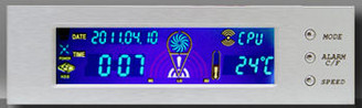 Logisys FP708SL 5.25inch Bay Color Thermal/Clock Panel