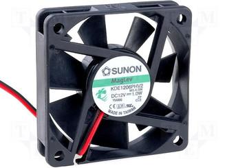 Sunon KDE1206PHV2 60x15mm  Vapo Bearing 12V Fan, 3Pin
