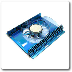 VANTEC iCEBERQ 70mm Hard Drive Cooler HDC-701A-BL, Blue