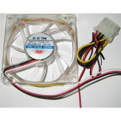 Vastech VCF8025-BU 80x80x25mm Blue Color Light  LED Clear Case Fan