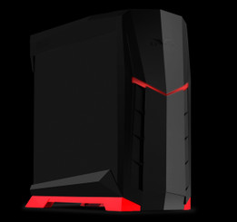 Silverstone SST-RVX01BR-W (black with red trim + window) MATX/ATX Compact PC Tower Case