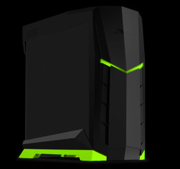 Silverstone SST-RVX01BV-W (black with green trim + window) MATX/ATX Compact PC Tower Case