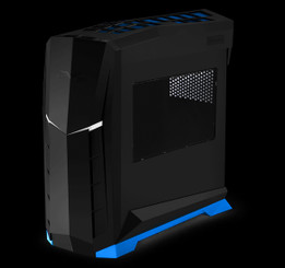 Silverstone SST-RVX01BA-W (black with blue trim + window) MATX/ATX Compact PC Tower Case