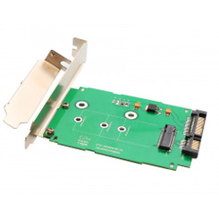 SYBA SI-ADA40083 M.2 NGFF to 2.5inch SATA III Card with Full/Low Profile Brackets