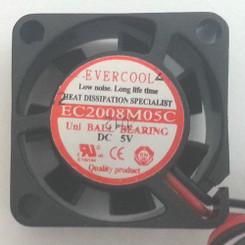 EVERCOOL EC2008M05C 20x20x8mm DC 5V BALL BEARING FAN, 2PIN