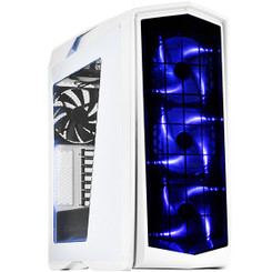 Silverstone SST-PM01WA-W (White with Blue LED + Window) ATX/MATX 9 Bay 140mm LED Fan Case