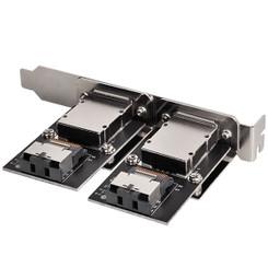 Silverstone SST-SA022 Internal Mini-SAS SFF-8087  to External Mini-SAS SFF-8088 Adapter
