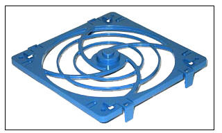 120mm plastic clip-on fan grill