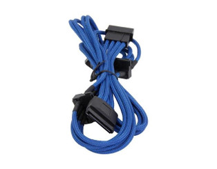 Bitfenix BFA-MSC-M4SA20BK-RP (Blue) Alchemy Multisleeved 20cm 4Pin Molex to 4x SATA Power Cable