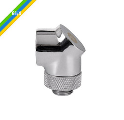 Thermaltake CL-W052-CU00SL-A Pacific G1/4 90 Degree Adapter – Chrome